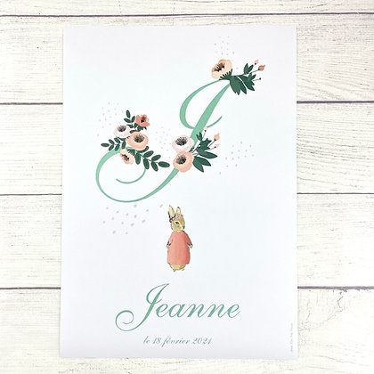Affiche Monogramme lapin