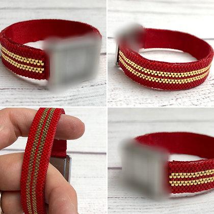Bracelet pour montre Poiray motif RAYURES