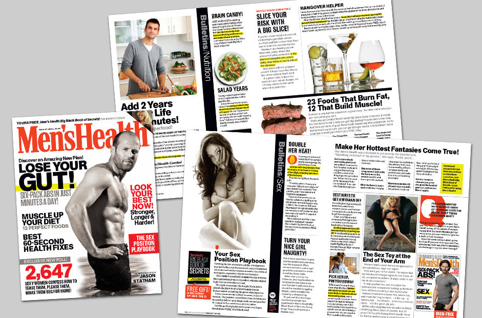 Men's Health Magazine direct mail promotion