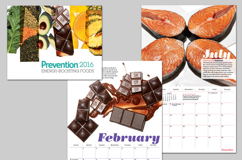Prevention magazine calendar