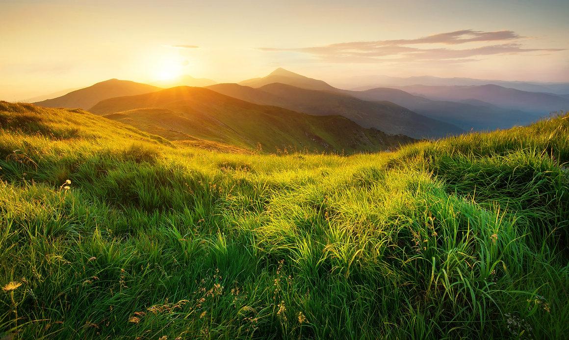 Mountains during sunset. Beautiful natur