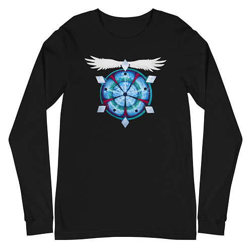 Astral Doom Musick - Mandala Long Sleeve Tee, black/navy