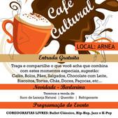 Café Cultural dia 13/06 GRÁTIS