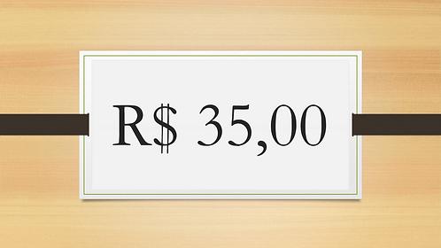 DOAÇÃO VOLUNTÁRIA R$ 35,00
