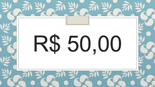 DOAÇÃO VOLUNTÁRIA R$ 50,00