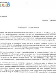 Ofício nº 08/2020: Comunicado de Esclarecimento