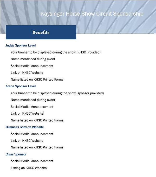 Kaysinger Sponsor Benefits.jpg