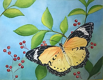Yellow Butterfly with cherries.jpg