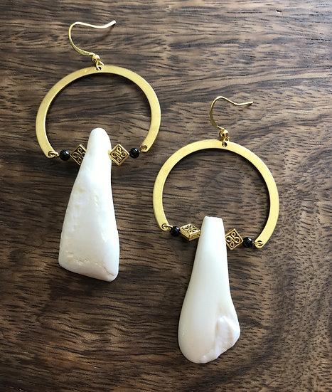 Brass & Bone Earrings