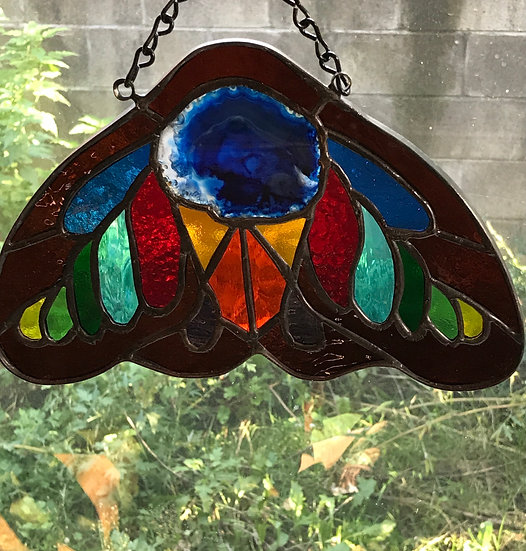 The Moth~ Beautifully Crafted Stained Glass