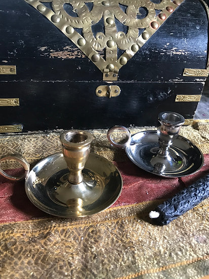 Chime Candle Nickel or Brass Holder~
