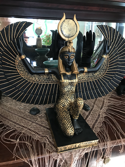 ISIS -Egyptian Mother Goddess ~Statue