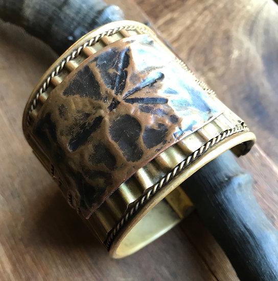 Algiz Rune Cuff Bracelet