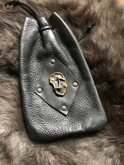 Leather Rune Pouch~ Eihwaz
