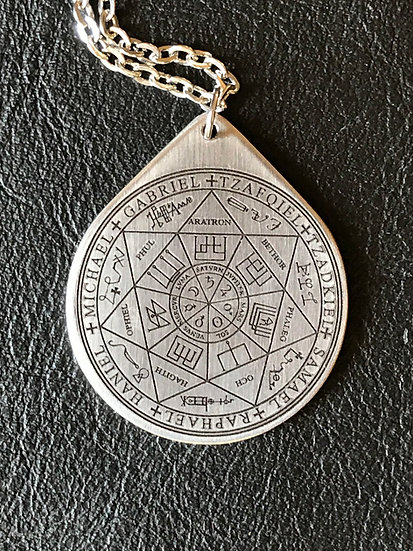 Seal of the 7 Archangels in Steel ~Talisman on Chain