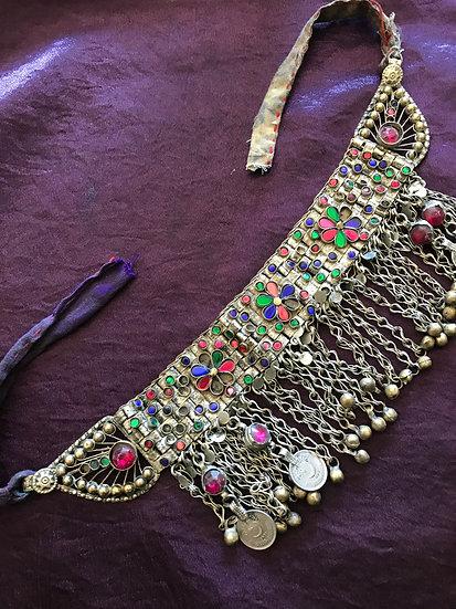 Antique Afghan Kuchi Choker Necklace