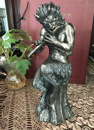 Satyr Horned God Statue