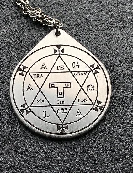 Solomon Hexagram in Steel ~Talisman on Chain