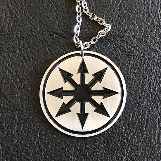 Chaos Medallion Pendant on Chain
