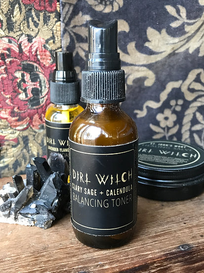 Clary Sage & Calendula Balancing Toner~by Dirt Witch