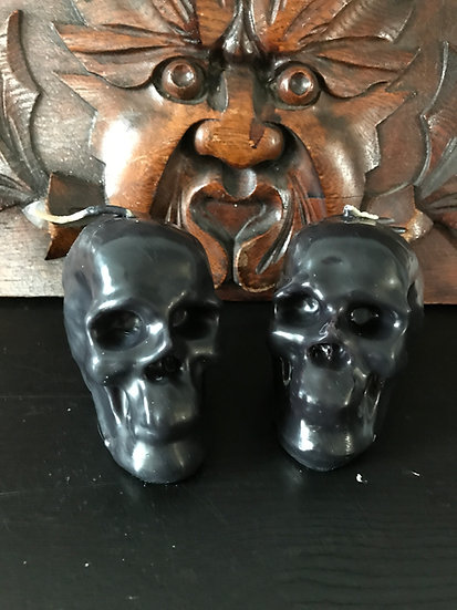 Uncrossing & Reversing Skull Candles -Handcrafted