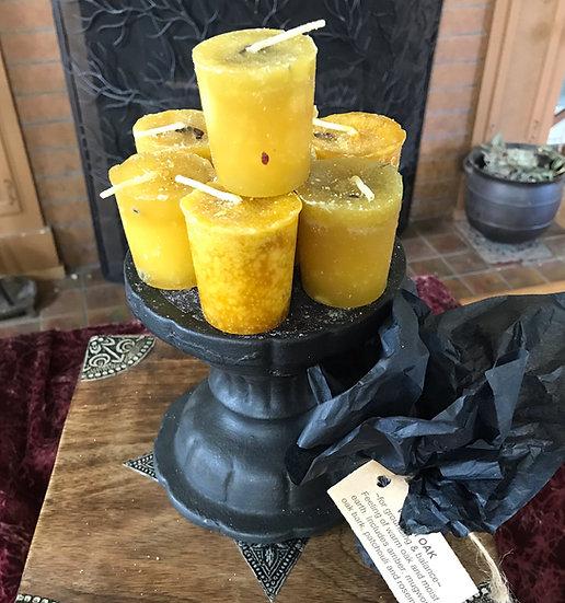 Warm Oak Votive Candle