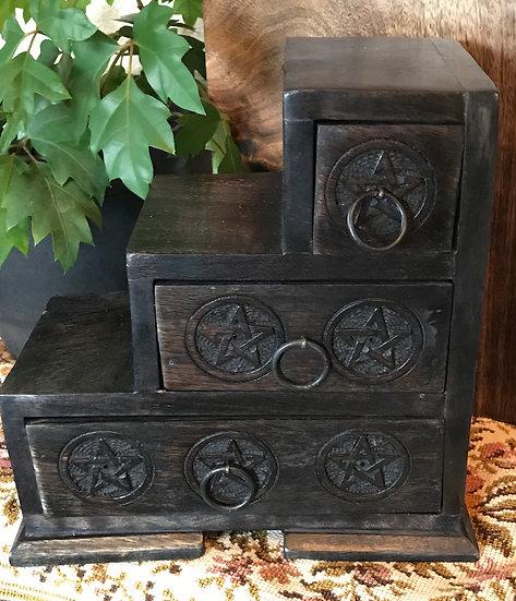 Triple Tier Pentacle Cabinet