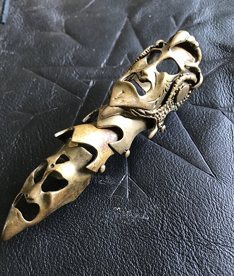 Spirit in Hinged Armored Brass Ring