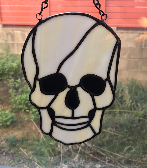 Skull Stained Glass