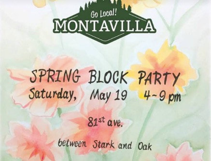 Saturday 5/19/18: MONTAVILLA Spring Block Party! 4-9:00