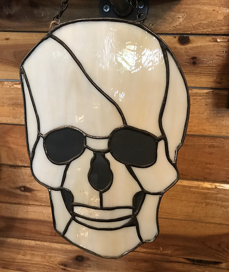 Skull Stained Glass (lg)
