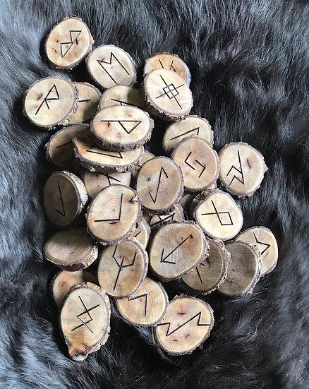 33 Set of Runes Carved on Live Oak