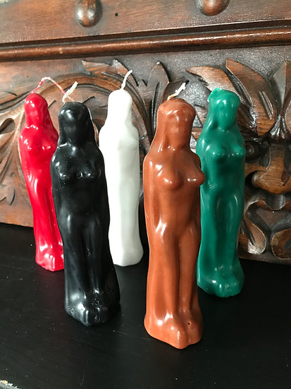 Female Figural Candle -Handcrafted
