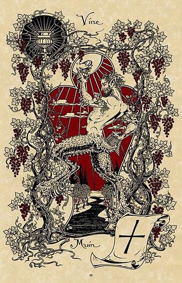 Satyr & Vine ~Signed Maxine Miller Print