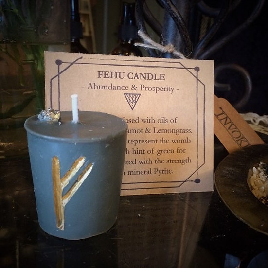 FEHU Intentional Rune Candle