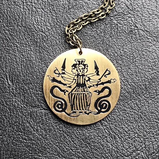 Hekate Medallion Pendant on Chain