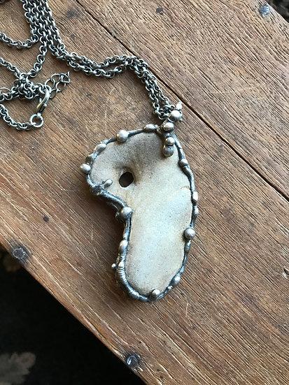 Hag Stone Talisman Necklace