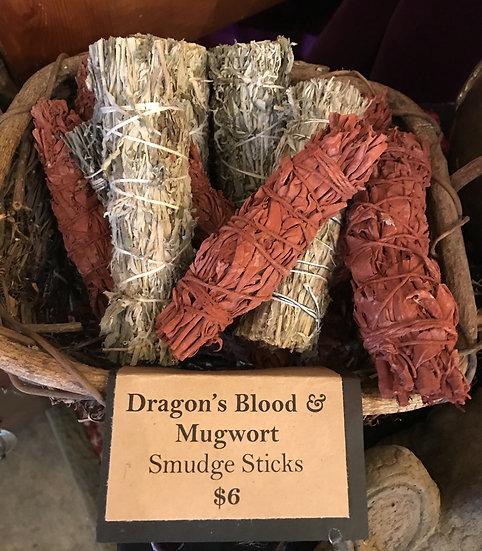 Dragon's Blood & Mugwort Smudge Stick