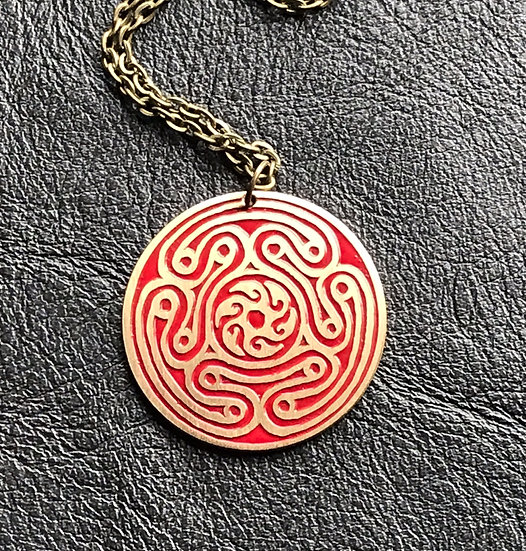 Hekate Medallion Pendant on Chain