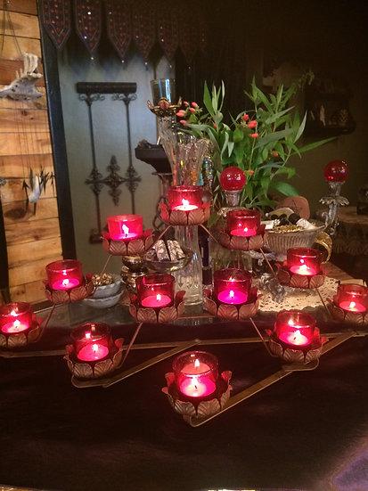 Vintage 12 Candle Altar
