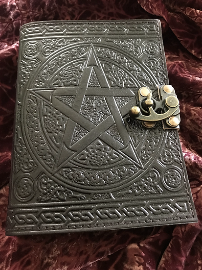 Goat Leather Pentacle Journal