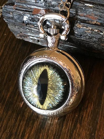 Eye & Watch Pendant Necklace