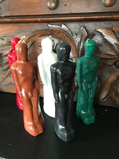 Male Figural Candle -Handcrafted