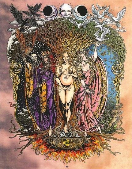 Triple Goddess ~Maxine Miller Print