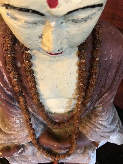 Rudraksha 108 Bead Mala Necklace (12mm)