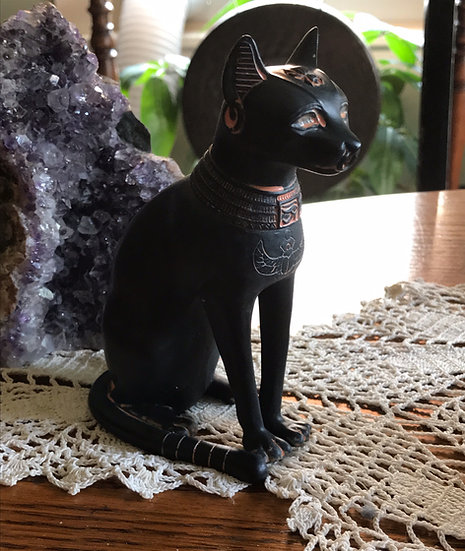 Sitting Bastet ~Protection, Festivities, a Lioness
