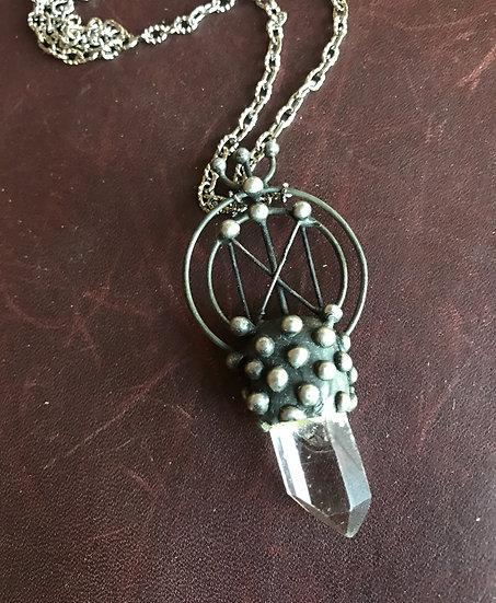 Dagaz Rune & Crystal Pendant~