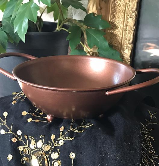 Copper Handled Ritual Bowl