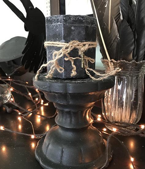Black Mugwort Pillar Candle