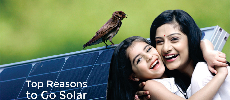 GREAT REASONS TO GO SOLAR